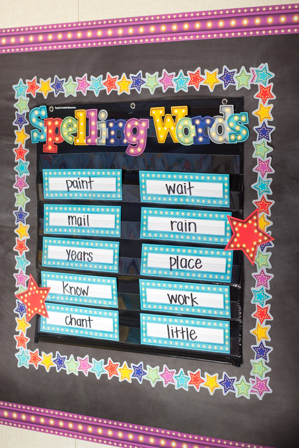 Spelling Words Chart