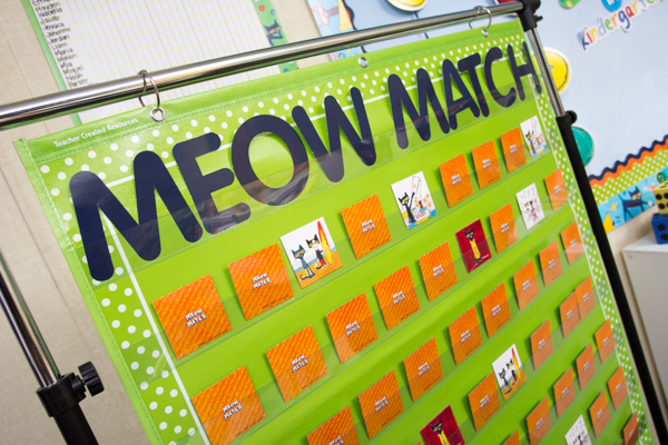 Meow Match Game In Pocket Chart