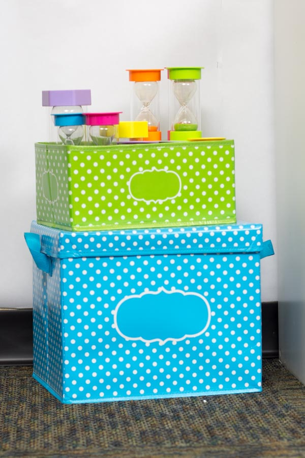 Polka Dot Storage Bins