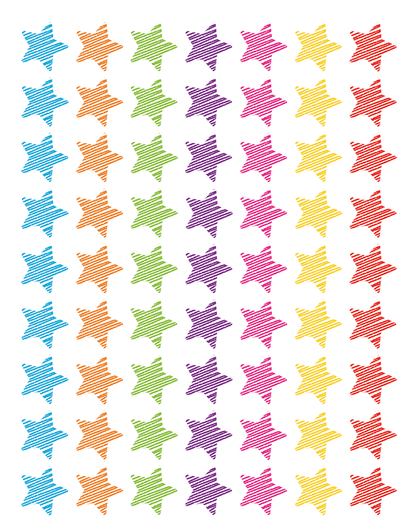 Scrible Stars Mini Stickers