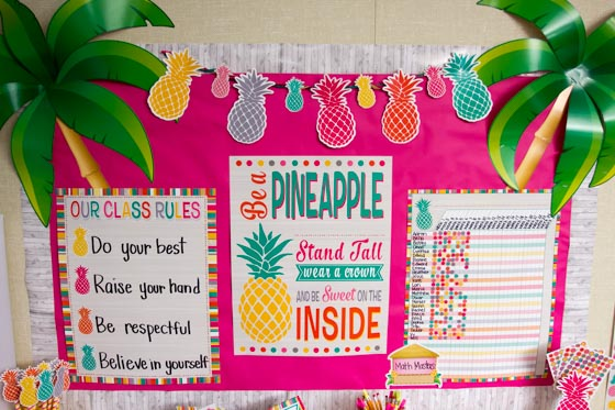 Pineapple Accents With Charts